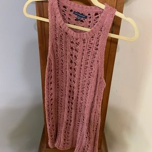 Crocheted sweater top